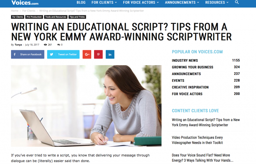 tips on script writing